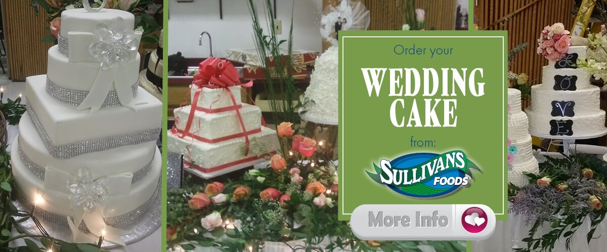 Order Your Wedding Cake from Sullivan's Foods