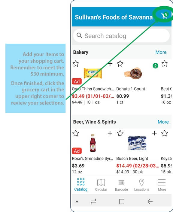 Grocery App Process 5
