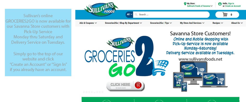 Groceries2GO available in Savanna