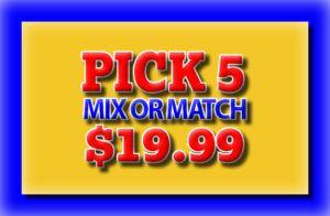 Pick 5 Mix or Match