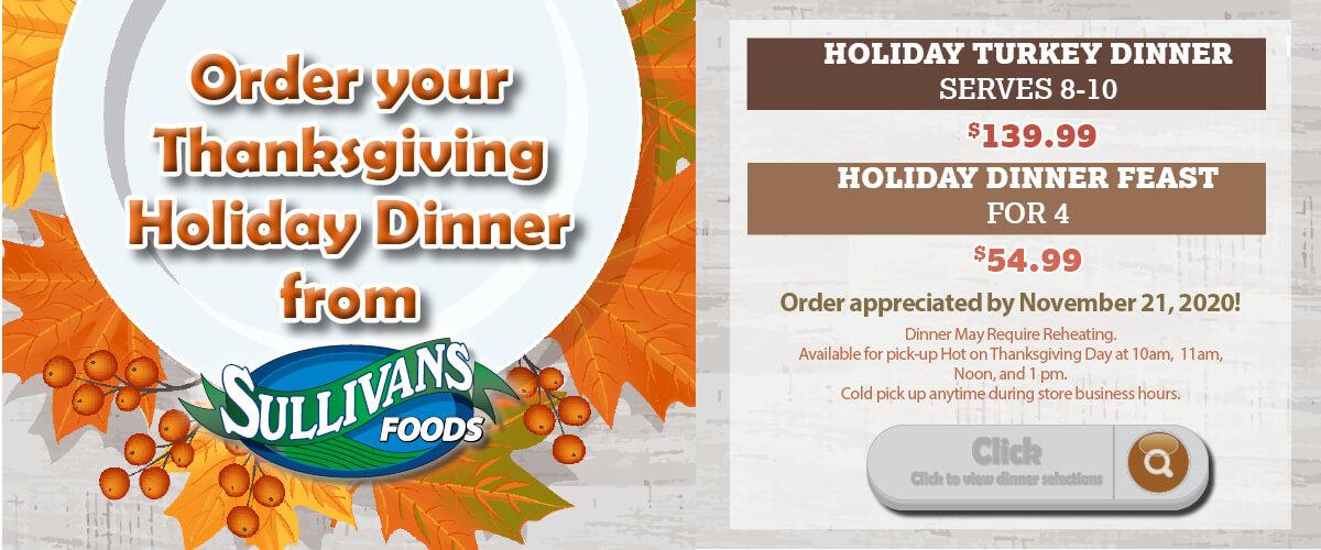 Thanksgiving Dinner Deals 2020
