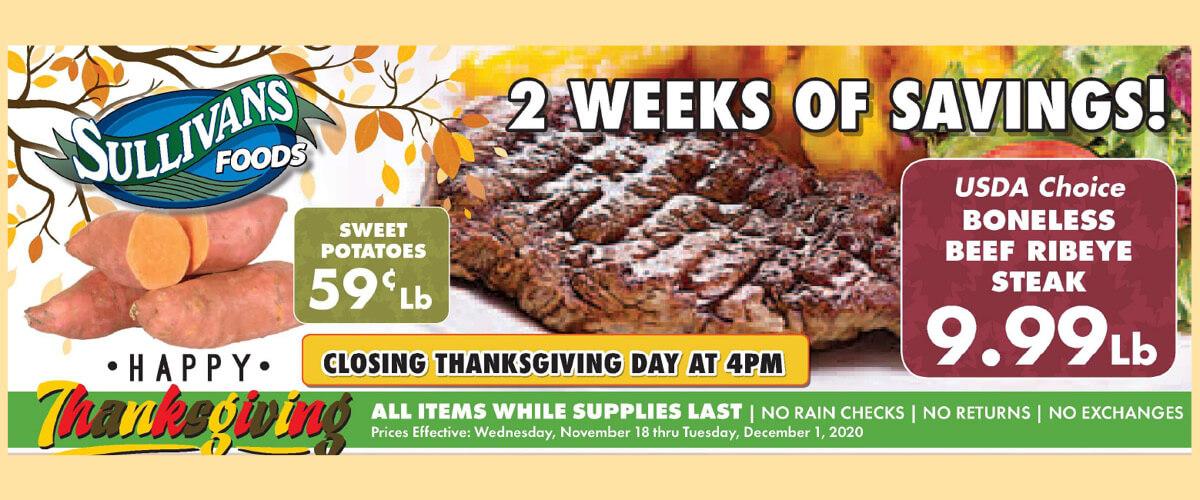 Sullivan's Foods Holiday Best Buys Nov 18-Dec 1, 2020