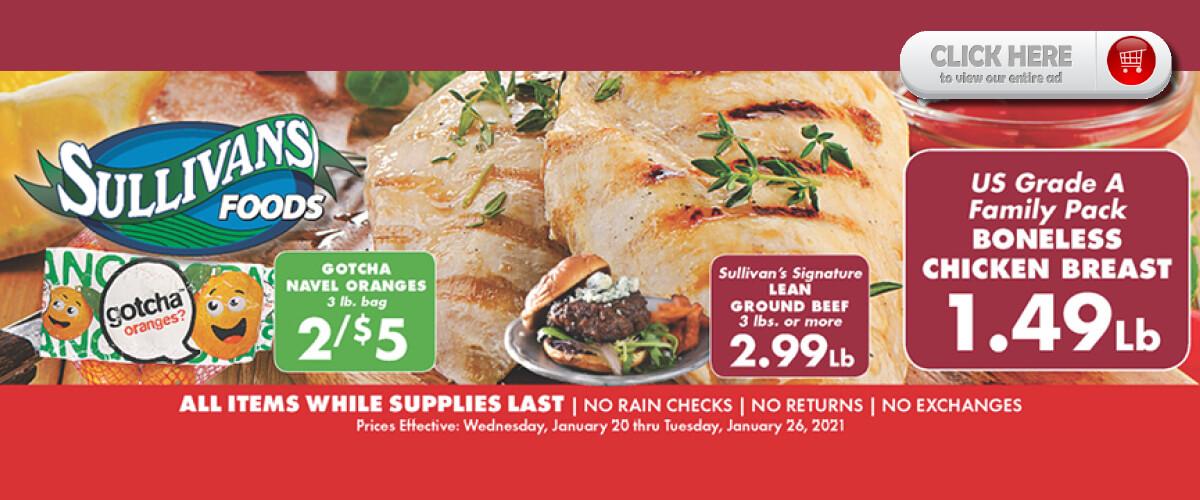Sullivan's Foods Weekly Ads through Jan 26, 2021