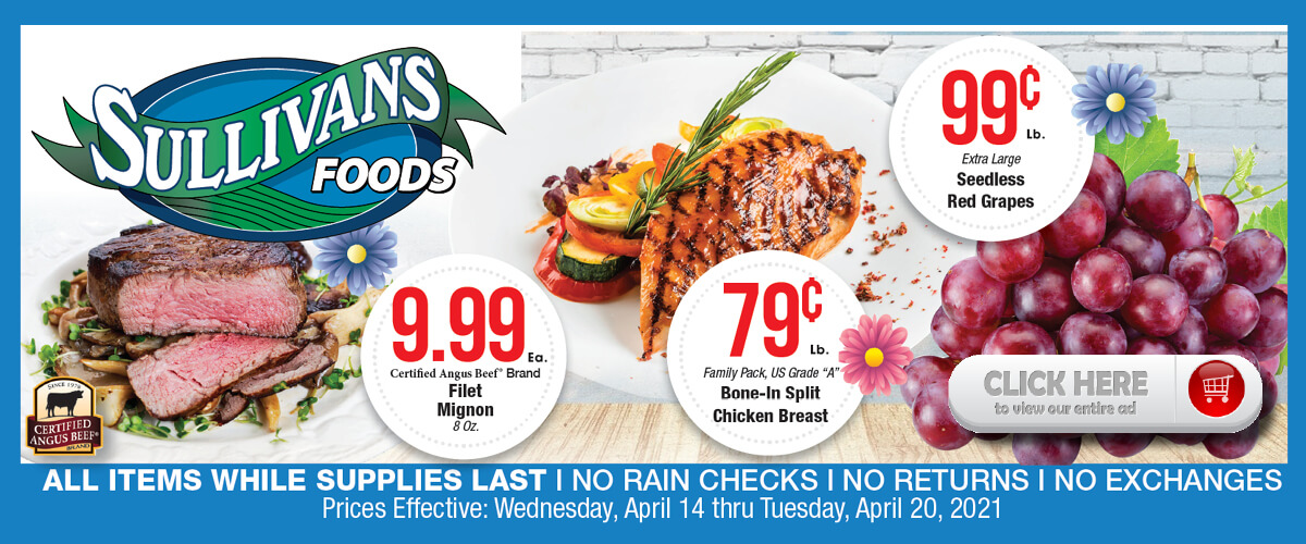 Sullivan's Foods Weekly Ad Apr 14-20, 2021